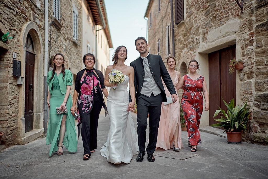 Matrimonio Toscana Primo Piano Colle